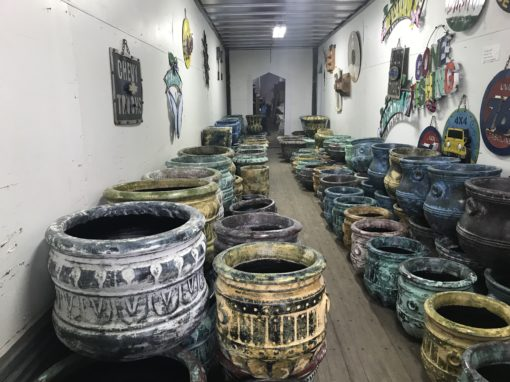 Large selection of clay pots